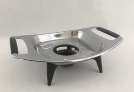 "Corning Ware Trivet Holder Chafing Warmer Metal Wood Black Handles 6.75""    - $12.16"