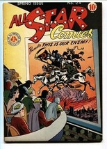ALL STAR #24-Nazi WWII cover-HITLER-FLASH-GREEN LANTERN-DC FN+ - $873.00