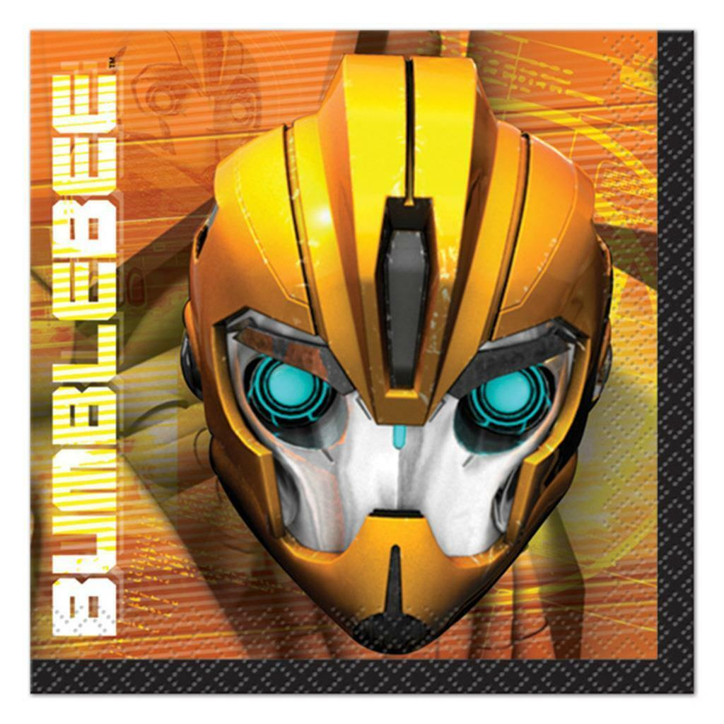 Transformers Prime Dessert Napkins 16 Ct Birthday Party Supplies by Unique New - $3.71