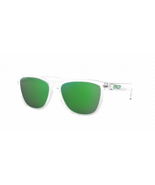 Oakley Frogskins Sunglasses OO9013-D655 Crystal Clear/Prizm Jade NEW - $108.89