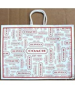 "1 New Coach Gift Bag Lot of 2 Gift bags 16"" x 12"" x 5.75"" + 6 XL Coach T... - $15.75"