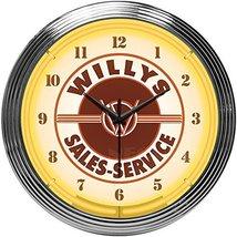 Neonetics Willys Sales Service Jeep Neon Clock - $89.95