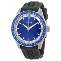 Fossil Blue Dial Black Silicone Strap Men's Watch BQ1271 - $272.00