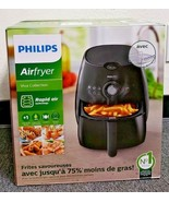 Philips HD9226/23 Viva Airfryer 1.8lb/2.75qt Black Fryer Double Layer Ra... - $1.225,03 MXN