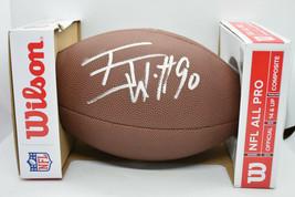 Tj Watt Signed Nfl Official Team Logo Football Coa - $99.75