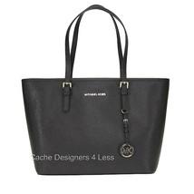 Michael Kors Jet Set Travel Tz Handbags Black T... - $167.31