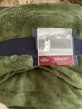 "Berkshire Blanket Serasoft Oversized Throw 60x70"" Dark Green - $22.40"