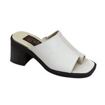 PEERAGE Adeline Women Wide Width Classic Comfort Leather Heeled Sandals - $34.95