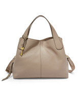 New Fossil Women's Maya Leather Satchel Bag Light Taupe - $188.09