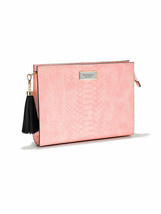 Victoria's Secret Zip Oversized Clutch For Your Beauty Essentials NWT Pink - $33.24