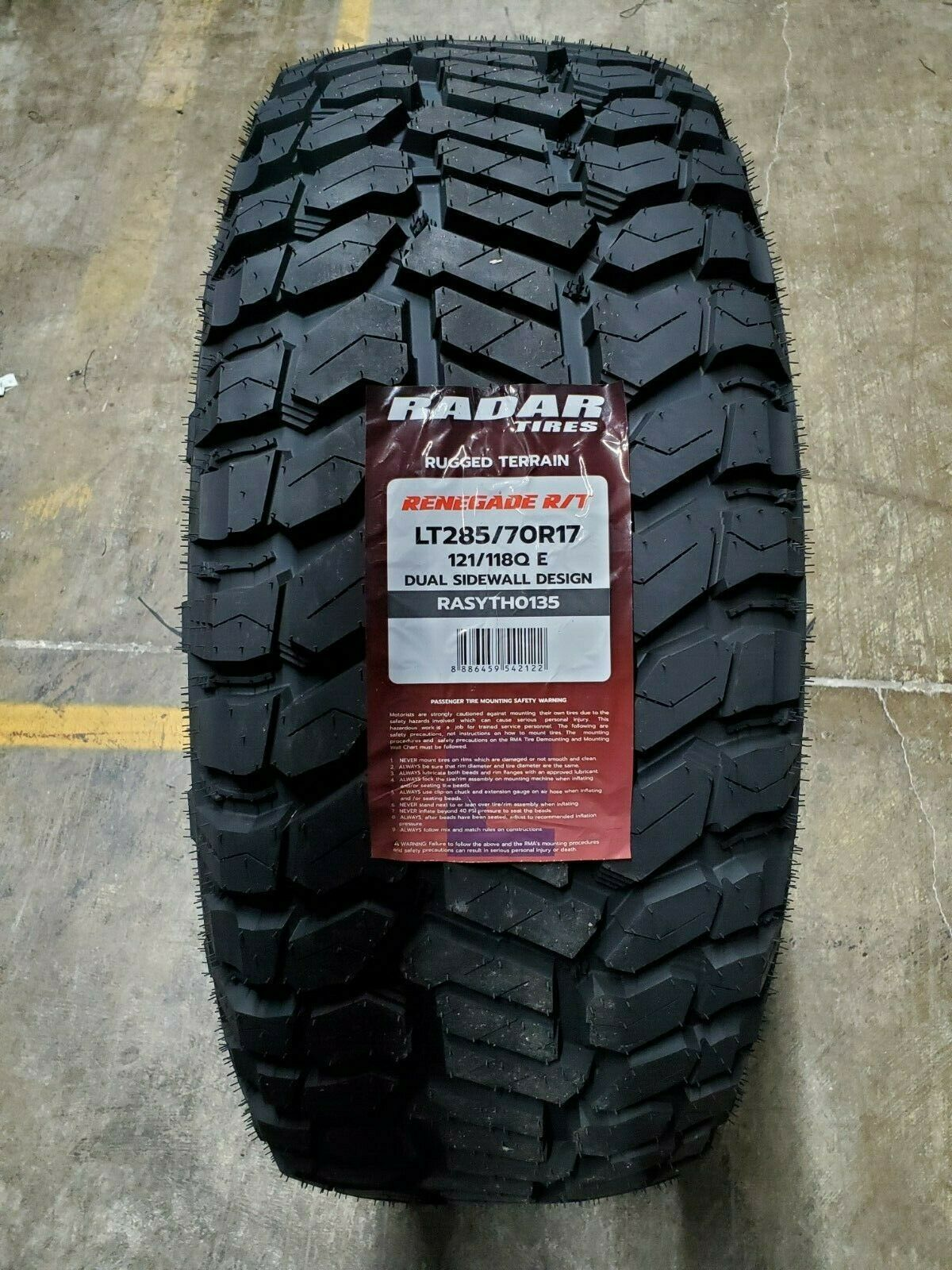 Primary image for LT285/70R17 Radar RENEGADE R/T 10PLY 121/118Q LOAD E (SET OF 4)