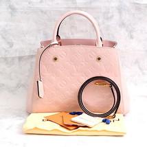 Auth LOUIS VUITTON Vernis Montaigne BB Hand Shoulder Bag M50404 Rose Bal... - $2,673.00