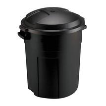 TRASH CAN WITH LID 20 Gal Outdoor Yard Waste Recycle Bin Heavy Duty Roun... - $45.00