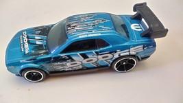 Hot Wheels Car 2010 Dodge Challenger Drift Blue Loose - $13.99