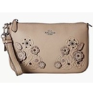 NWT 12048 COACH Nolita Wristlet 22 in Gloved-Tanned Leather  Light Stone Handbag - $178.19