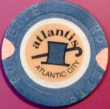 Roulette Casino Chip. Atlantis, Atlantic City, NJ. W22. - $4.29