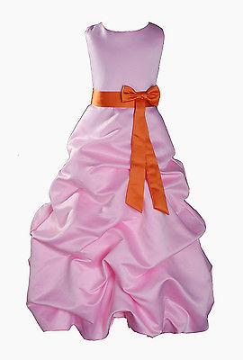 Per Bambina Da Festa Damigella Vestito Per Spettacolo 1-13 Y Rosa+Fascia image 8