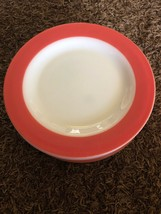"Lot 7 Vintage Pyrex Flamingo Pink White 10"" Glass Dinner Plates - $46.24"