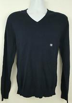 NEW Express Men's Sweater Size L Navy Blue Cotton Cashmere Blend - $22.76