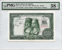 Spain: 1957 1,000 Pesetas PMG 58 EPQ (P-149a) - $252.19