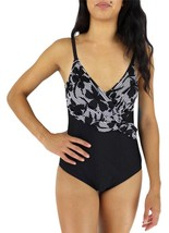 NEW OCEAN JEWEL WOMEN'S BATHING SUIT ONE PIECE BLACK STYLE:0J-2010 SIZE 14