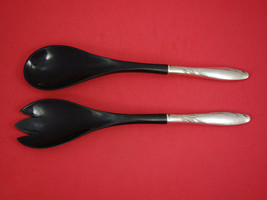 "Willow by Gorham Sterling Silver Salad Serving Set w/ Ebony 2pc 11"" - $109.00"