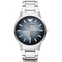 Emporio Armani AR2472 Stainless Steel Blue Degrade Date Window Dial Watch - $154.99