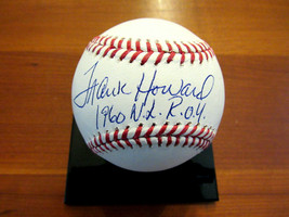 FRANK HOWARD 1960 NL ROY WASHINGTON SENATORS SIGNED AUTO OML BASEBALL TR... - $89.09