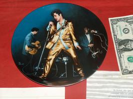 "1989 ELVIS Presley ""The Memphis Flash"" Bradford Exchange Plate, Original Box COA - $27.68"