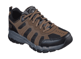 Men's Skechers Relaxed Fit Outland 2.0 Stallwood Hiking Shoe Brown/Black - $104.51