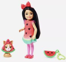"2019 Barbie Club Chelsea Doll 6"" Watermelon Costume, Puppy & Accessories... - $16.99"