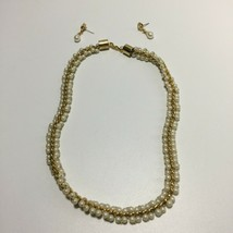 Vintage Faux Pearl Necklace & Earrings - $14.85