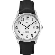 Timex Men's Quartz Watch with White Dial Analogue Display and Black Leather Stra - $95.00