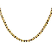 "6.3mm 14K Yellow Gold Heart and ""X"" Links Chain - $762.30"