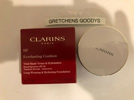 Clarins Everlasting Cushion Foundation #107 Beige NIB .5 oz SPF 50 - $18.20