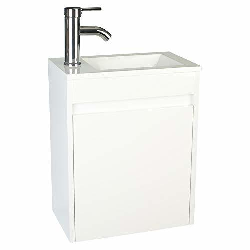 Eclife bathroom vanity w sink combo 16 for small space - Small bathroom sink and vanity combo ...