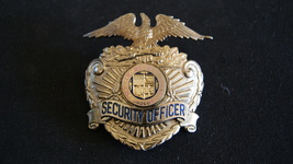 Los Angeles Airport Security officer Hat Badge Vintage 1960's,Hallmark Entenmann image 1