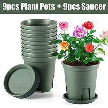 XHJD Plant Flower Pots 18 Pack About 1 Gallon Premium Plastic Nursery Pl... - €36,37 EUR
