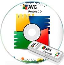 Avg Rescue CD 2019 - Virus et Malware Enlèvement Programme. Fourni sur u... - $9.38