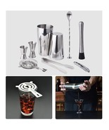 Cocktail Shaker Set 9 Pcs Stainless Steel Drink Mixer Bar Tools Kit - $27.95