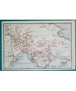 1897 BAEDEKER MAP - ENGLAND Torquay & Plymouth City Plan - $7.65