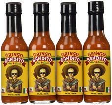 Gringo Bandito Hot Sauce, Red, 5 Ounce (Pack of 4) - $20.99