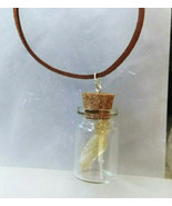 Necklace Gemstones in a Bottle Citrine Natural Stones Stone of Prosperity D - $29.99