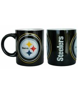Pittsburgh Steelers NFL Sculpted Warm Up Coffee Tea Cup Mug Ceramic 14 oz - $21.78