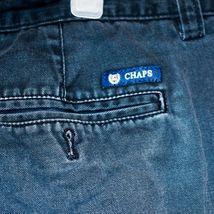 Chaps by Ralph Lauren Flat Front Faded Navy Blue Men's Cotton Shorts Size 36 image 3