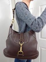 COACH Hampton 10210 Chocolate Brown Leather Medium Hobo Shoulder Bag - $78.21