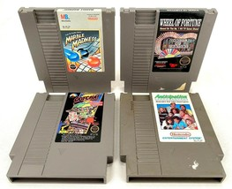 Nintendo NES-Lot of 4 Video Games-Wheel of Fortune, Marble Madness, Anticipation - $18.69
