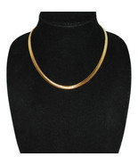 """1980's Vintage Slink Chain Gold Tone 17.75""""L x .25""""L with Lobster Clasp ... - $9.99"""