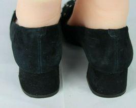 Nine West women's shoes loafer leather upper black medium heel size 9M image 6