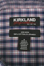 New Men's Kirkland Non Iron Casual Button Down W/ Collar Short Sleeve Shirt SZ M image 4